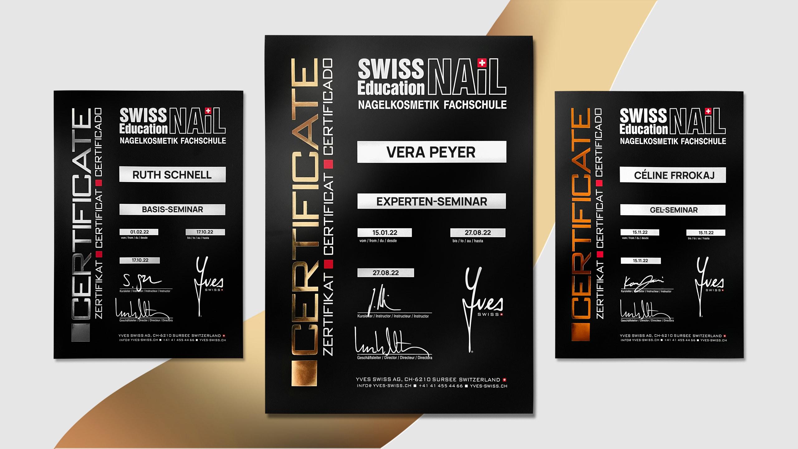 Yves Swiss AG | Zertifikate